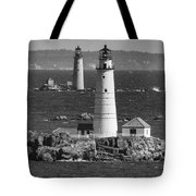 Boston Light With Graves Light Tote Bag