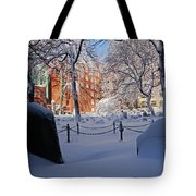 Boston Ma Granary Burying Ground Tremont St Grave Stones Tote Bag