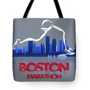 Boston Marathon 3a Running Runner Tote Bag
