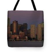 Boston Moonset And Sunrise Tote Bag