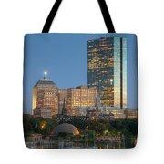 Boston Night Skyline Iv Tote Bag