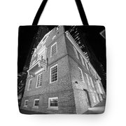 Boston Old State House Boston Ma Angle Black And White Tote Bag