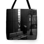 Boston Park Bench And Lantern Tote Bag
