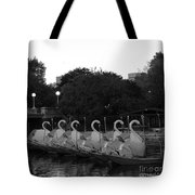 Boston Public Garden Swan Boats Tote Bag