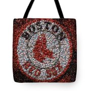 Boston Red Sox Bottle Cap Mosaic Tote Bag