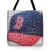 Boston Red Sox Cap Mosaic Tote Bag