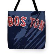 Boston Red Sox Typography Blue Tote Bag