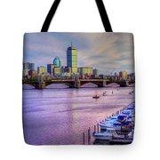 Boston Skyline Sunset Tote Bag by Joann Vitali