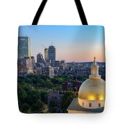 Boston State House Tote Bag by Michael Hubley