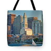 Boston Sunset Sail Tote Bag by Susan Cole Kelly
