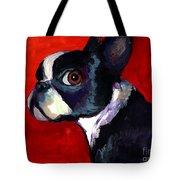 Boston Terrier Dog Portrait 2 Tote Bag by Svetlana Novikova