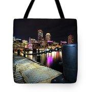 Boston Waterfront Skyline View Boston Ma Tote Bag