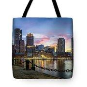 Boston,ma Sunset Tote Bag