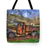 Boswell 1947 Dump Truck Farm Scene Tote Bag