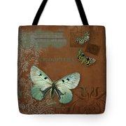 Botanica Vintage Butterflies N Moths Collage 4 Tote Bag