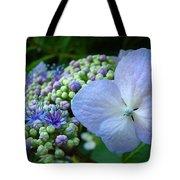 Botanical Garden Blue Hydrangea Flowers Baslee Troutman Tote Bag