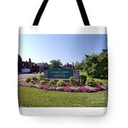Botanical Gardens Floral Landscaped Entrance  Tote Bag
