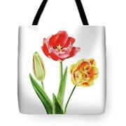 Botanical Tulip Bouquet Watercolor Tote Bag