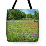 Botanical Variety Show In The Texas Hill Country Tote Bag