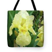 Botanical Yellow Iris Flower Summer Floral Art Baslee Troutman Tote Bag