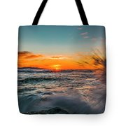 Botany Sunset Splash Tote Bag