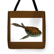 Bothriolepis Fish On White Tote Bag