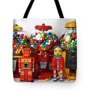 Bots And Bubblegum Machines Tote Bag