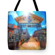 Bottle Cap Alley Tote Bag by David Morefield