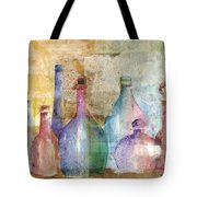 Bottle Collage Tote Bag