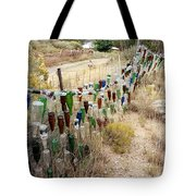 Bottle Fence. Tote Bag