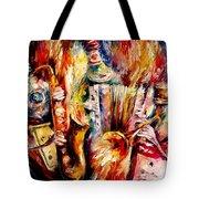 Bottle Jazz Tote Bag