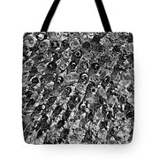 Bottle Wall Black And White Tote Bag