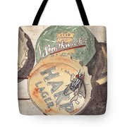 Bottlecaps And Barfly Tote Bag by Ken Powers