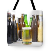 Bottles Of Beer And Beer Mug.  Tote Bag by Deyan Georgiev