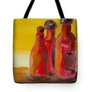 Bottles Of Hot Sauce Tote Bag by Steve Jorde