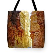 Bottom Of Wall Street On Navajo Trail In  Bryce Canyon National Park, Utah  Tote Bag