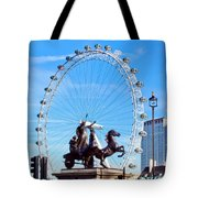 Boudica Riding The Millennium Wheel Tote Bag