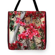 Bougainvillea On Mission Wall - Digital Painting Tote Bag