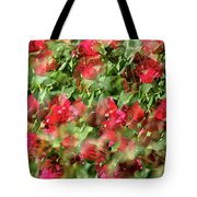 Bougainvillea Repeating Pattern Abstract I Tote Bag