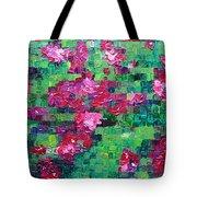 Bouganvillea - Tiled Tote Bag
