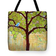 Boughs In Leaf Tree Tote Bag by Blenda Studio
