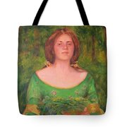 Bouguereau Girl In The Cross Timbers Of Oklahoma Tote Bag