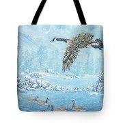 Boulder Bay Geese Tote Bag