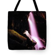 Boulder Cave Falls From The Side  Tote Bag