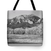 Boulder Colorado Flatiron View From Jay Rd Bw Tote Bag