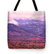 Boulder Colorado Sunrise Panorama Tote Bag