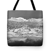 Boulder County Continental Divide Panorama Bw Tote Bag