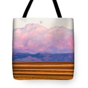 Boulder County Farm Fields At First Light Sunrise Tote Bag