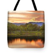 Boulder County Lake Sunset Landscape 06.26.2010 Tote Bag