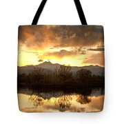 Boulder County Sunset Reflection Tote Bag